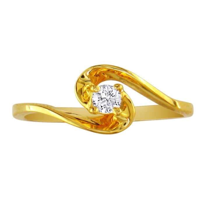 The Perfect .05 Carat Diamond Promise Ring in 10k Yellow Gold (1