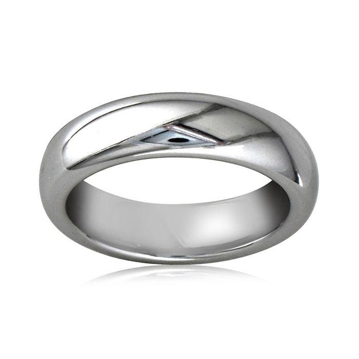 5mm Mens & Ladies Comfort Fit Tungsten Wedding Band, by SuperJewe