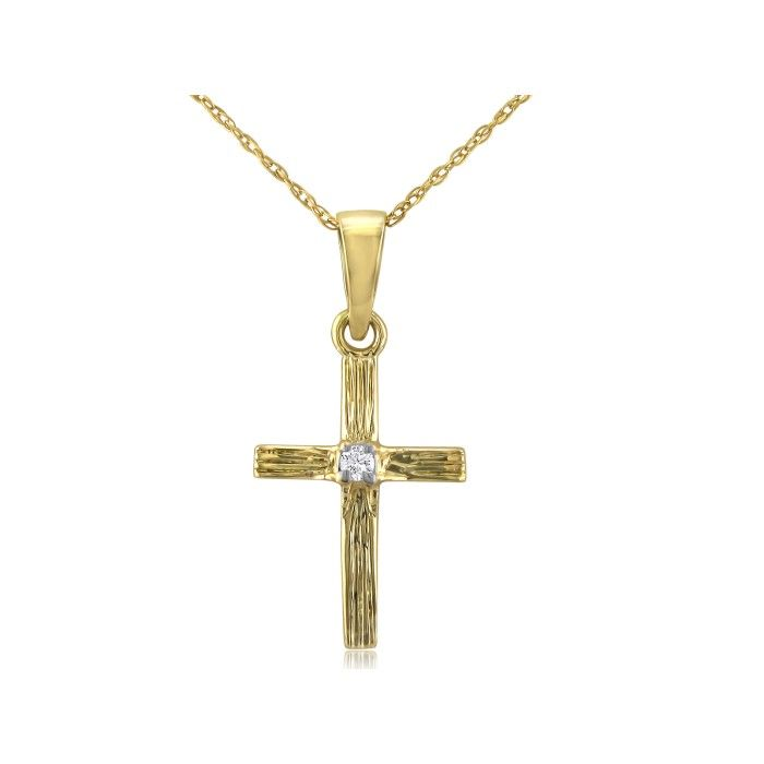 Solid 14 ct Rose Gold Cross Pendant Necklace (Comes With an 18