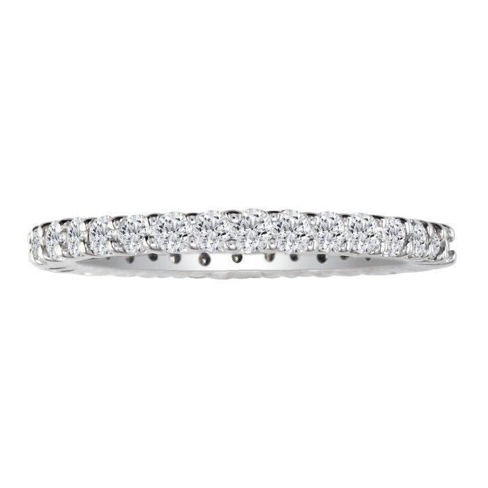 Platinum 1/2 Carat Diamond Eternity Wedding Band, G/H by Hansa
