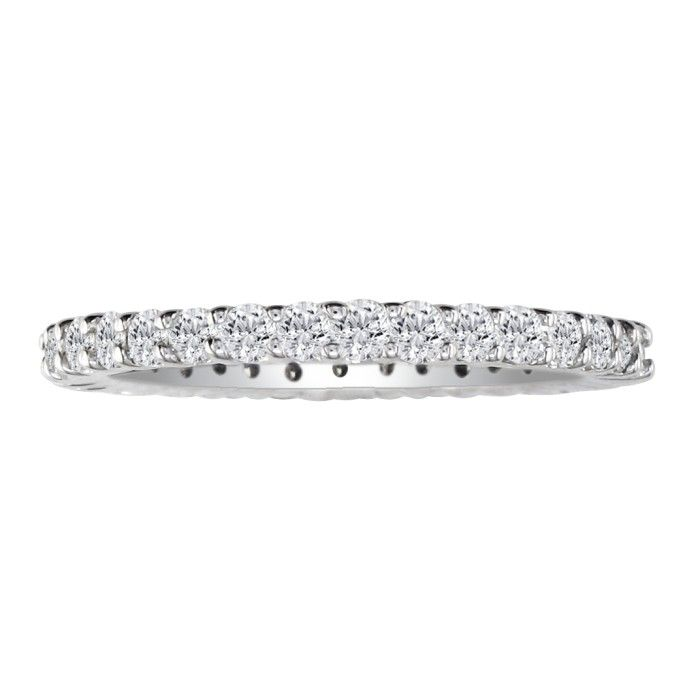Platinum 1 Carat Diamond Eternity Wedding Band, G/H by Hansa