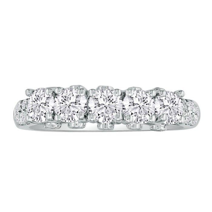 Platinum 2 Carat Diamond Eternity Wedding Band, G/H by Hansa