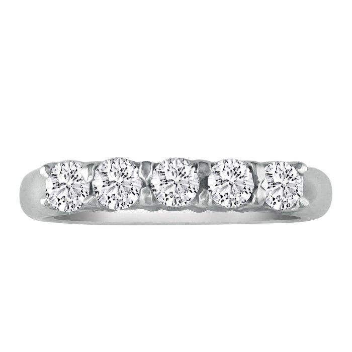 Perfect 1/4 Carat Platinum Diamond Wedding Band, G/H by Hansa