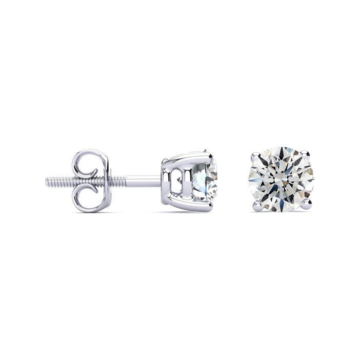 1.5 Carat Diamond Stud Earrings in 14k White Gold, G/H, SI2/SI3 b