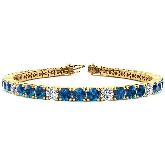 7 Inch 9 1/2 Carat Blue and