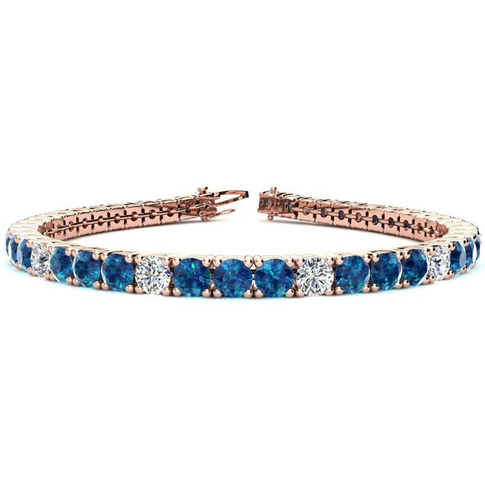 7.5 Inch 9 3/4 Carat Blue and