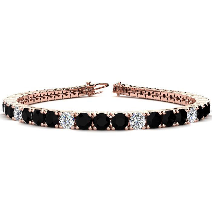 8.5 Inch 11 1/5 Carat Black and