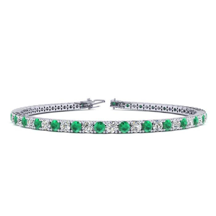 7 Inch 4 1/4 Carat Emerald And