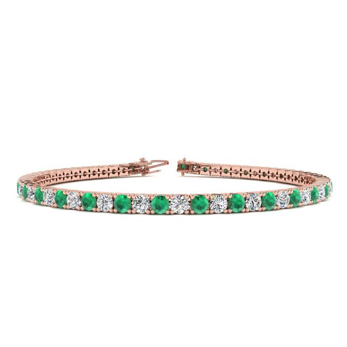 7.5 Inch 4 1/2 Carat Emerald And