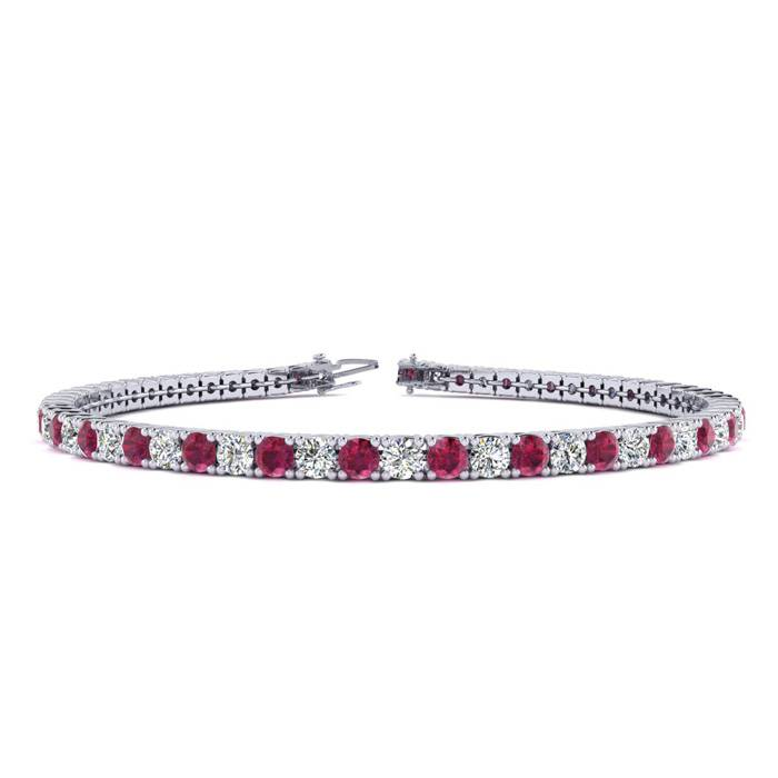 9 Inch 6 Carat Ruby And Diamond