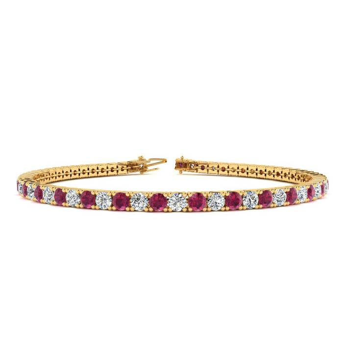 8.5 Inch 5 1/2 Carat Ruby And