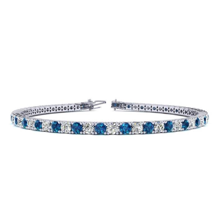 6 Inch 3 1/2 Carat Blue And