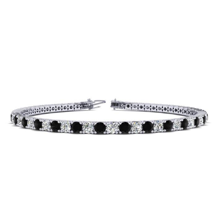 9 Inch 5 Carat Black And White