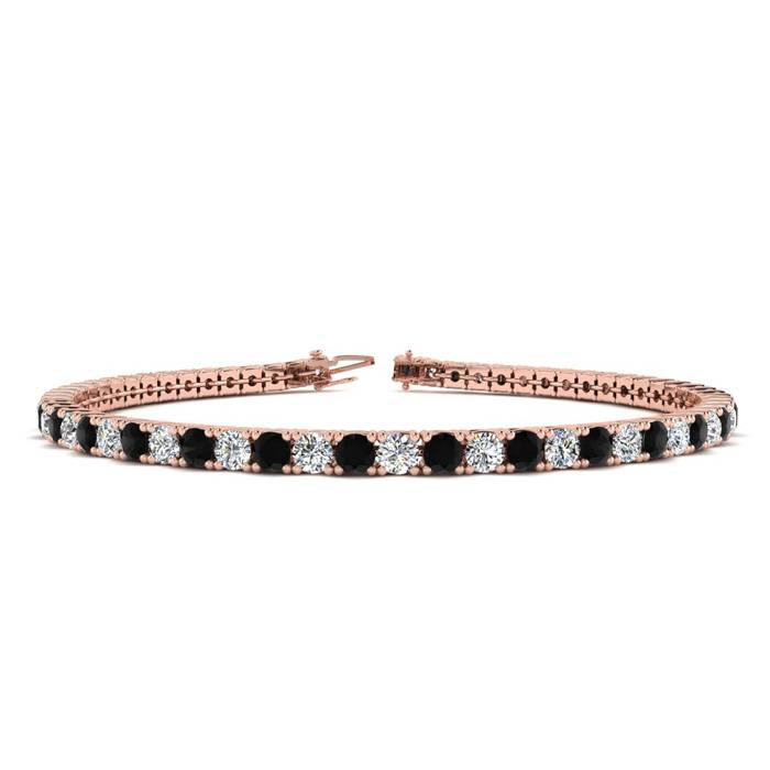 8.5 Inch 4 3/4 Carat Black And