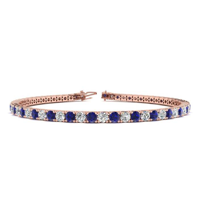 7 Inch 4 1/2 Carat Sapphire And