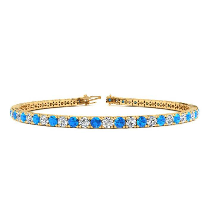7.5 Inch 5 Carat Blue Topaz And