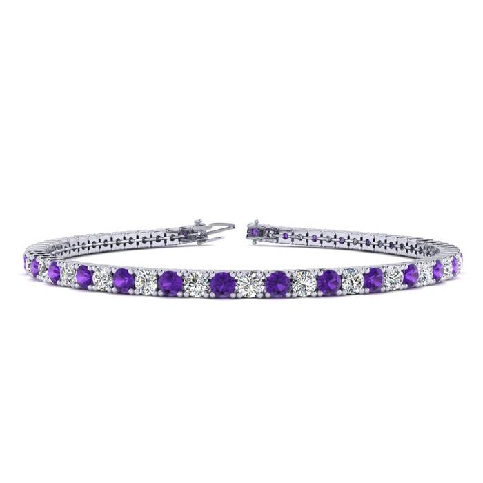 7 Inch 4 Carat Amethyst And Diamond