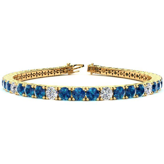 9 3/4 Carat Blue and White Diamond