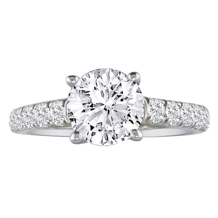 Image result for HANSA 3/4CT DIAMOND ROUND ENGAGEMENT RING IN 18K WHITE GOLD, H-I, SI2-I1