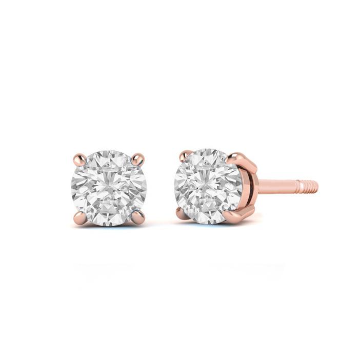 1/4ct Diamond Stud Earrings in 14k Rose