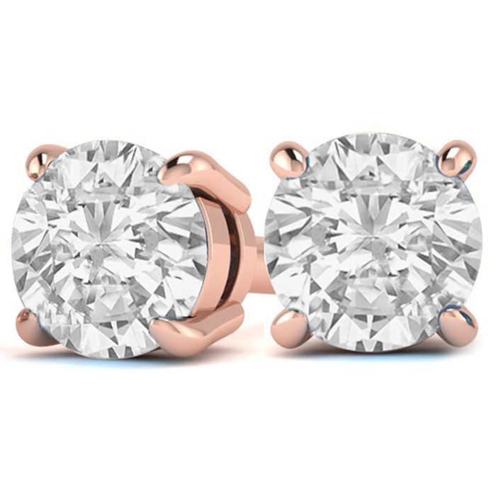 3 Carat Diamond Stud Earrings In 14