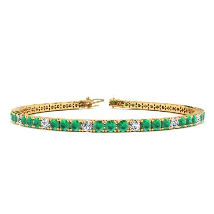 6 Inch 3 Carat Emerald And Diamond