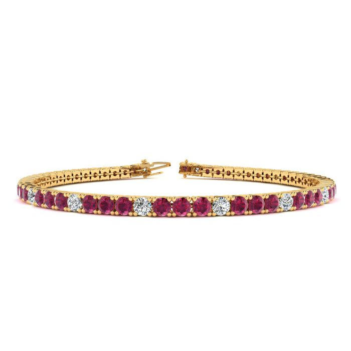 6.5 Inch 4 Carat Ruby And Diamond