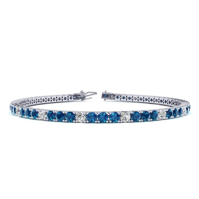 6 Inch 2 1/4 Carat Blue And