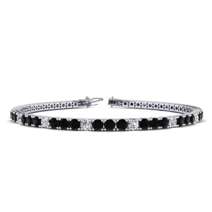 9 Inch 3 1/2 Carat Black And