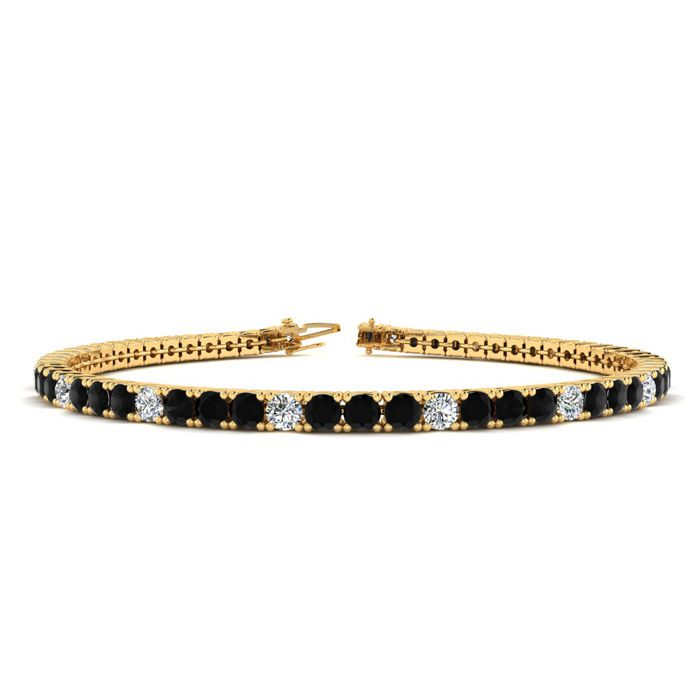 7.5 Inch 2 3/4 Carat Black And