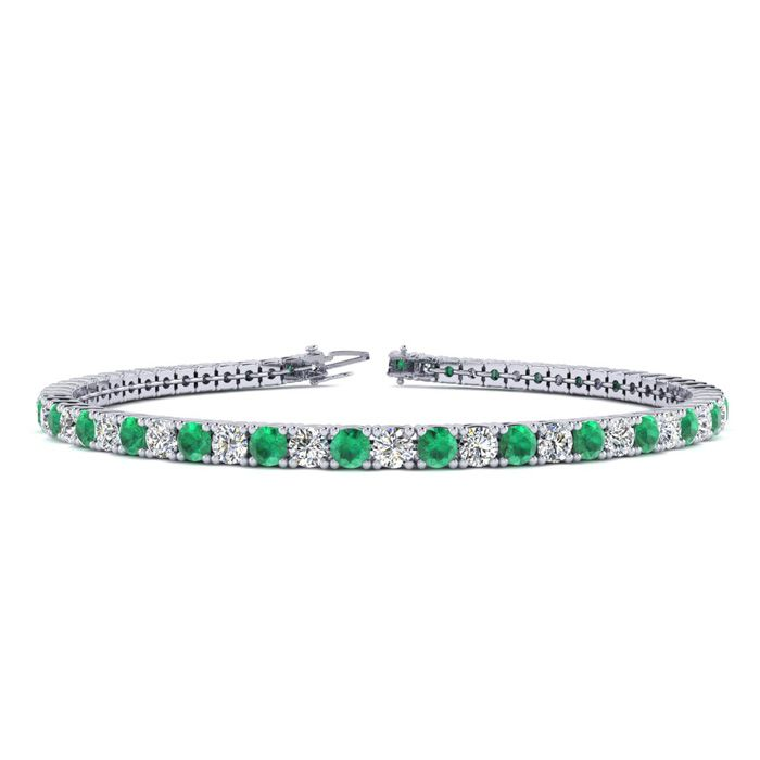 8 Inch 3 3/4 Carat Emerald And
