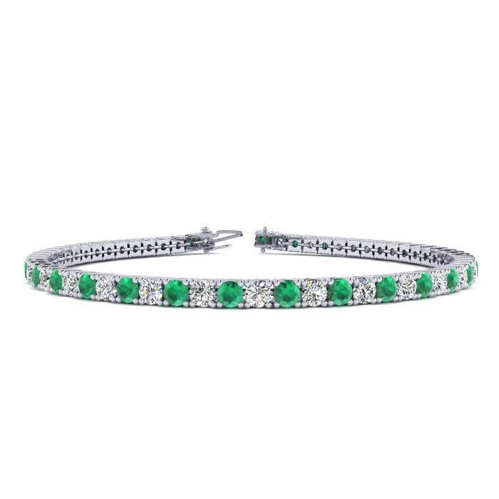 8.5 Inch 4 Carat Emerald And Diamond
