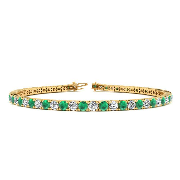 9 Inch 4 1/3 Carat Emerald And