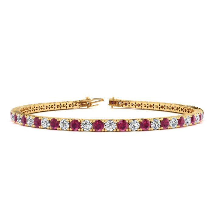 8 Inch 4 1/4 Carat Ruby And