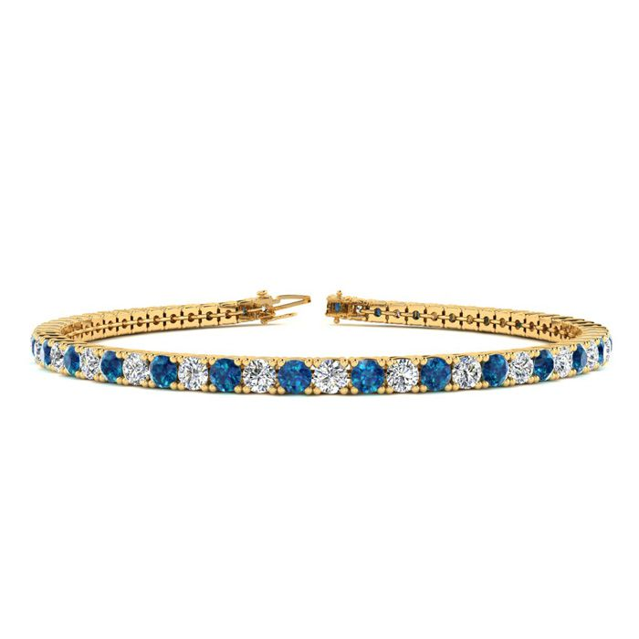 7 Inch 2 2/3 Carat Blue And