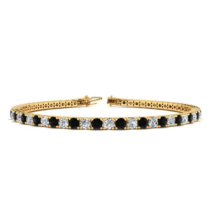 7 Inch 2 2/3 Carat Black And