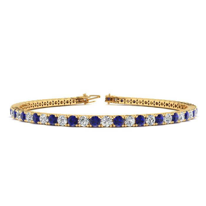9 Inch 4 1/3 Carat Sapphire And