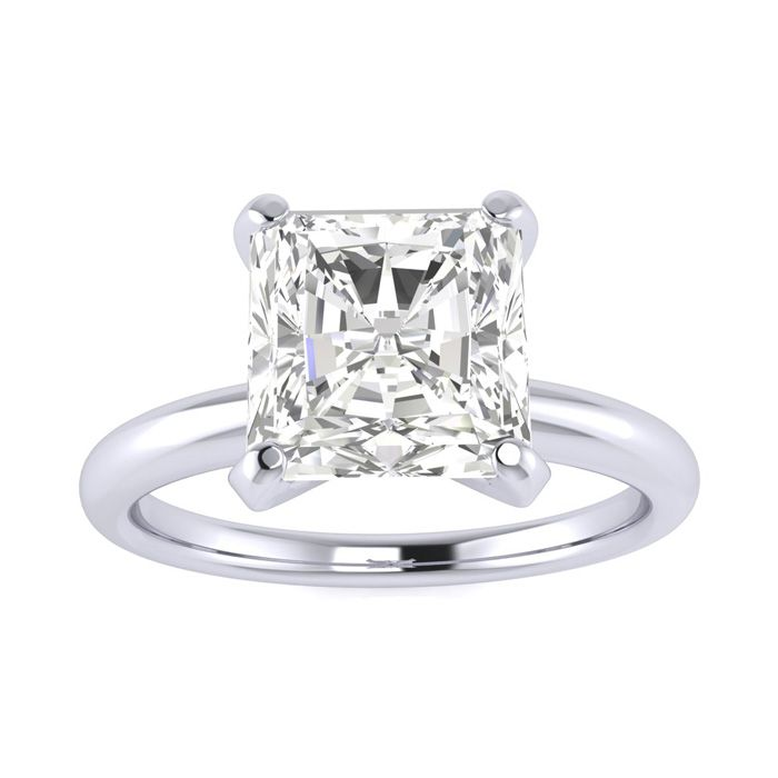 2 Carat Radiant Cut Diamond Solitaire Engagement Ring in 14K White Gold