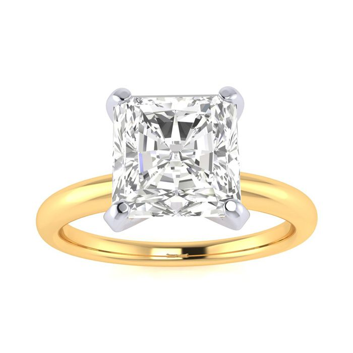 2 Carat Radiant Cut Diamond Solitaire Engagement Ring in 14K Yellow Gold