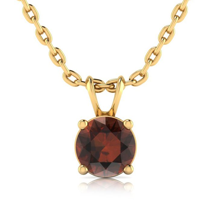 3/4ct Chocolate Bar Brown Champagne Diamond Solitaire Pendant In 14K Yellow ..