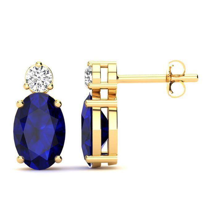 1 1/4 Carat Oval Sapphire and Diamond