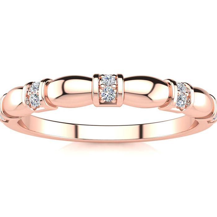 .05ct Ten Diamond Wedding Band In 10K