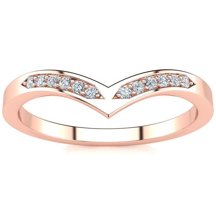 .06ct Diamond Wedding Band In 10K Rose