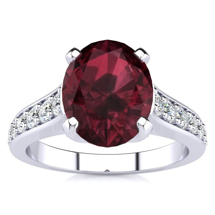 2 1/3 Carat Oval Shape Garnet and