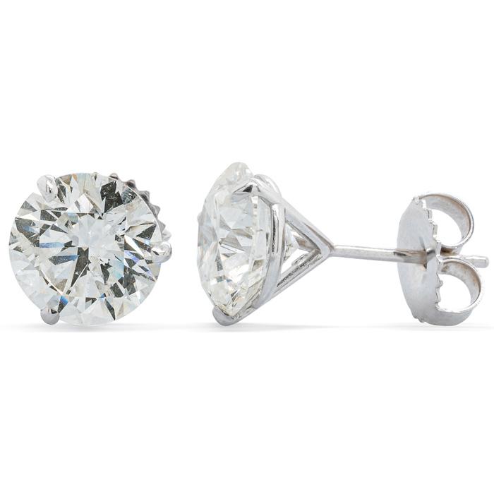 5.19ct Genuine Natural Diamond Studs in Platinum Martini Setting