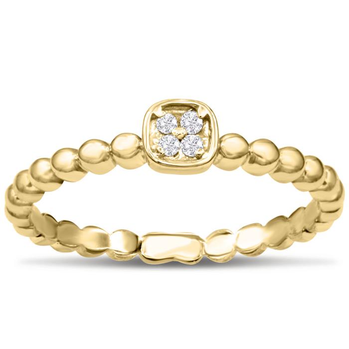 Modern Diamond Promise Ring In Yellow Gold
