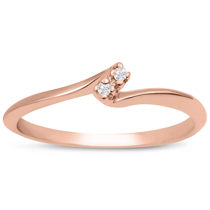 0.02ct Two Diamond Promise Ring In 10