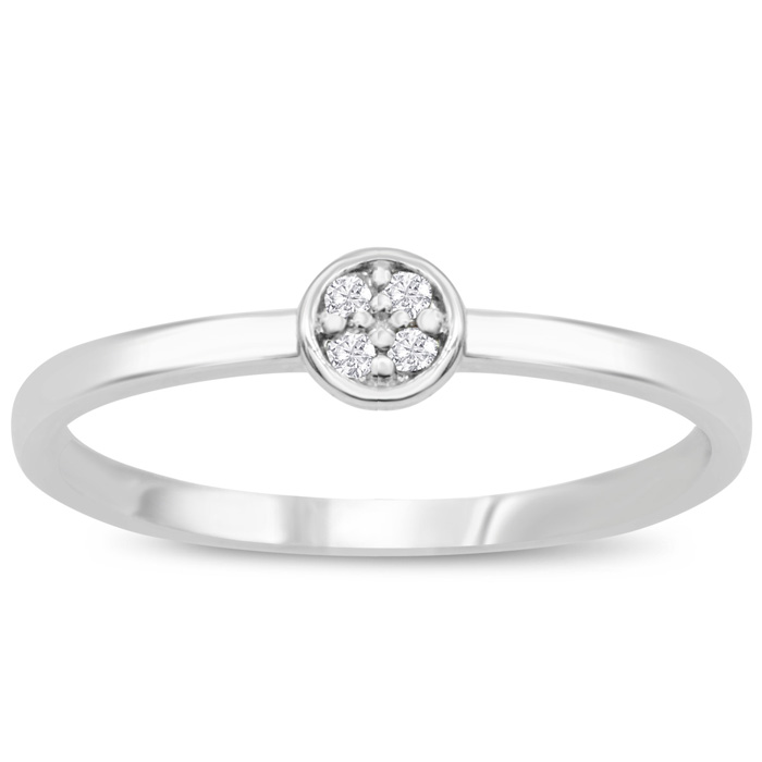 4 Diamond Promise Pave Ring in White