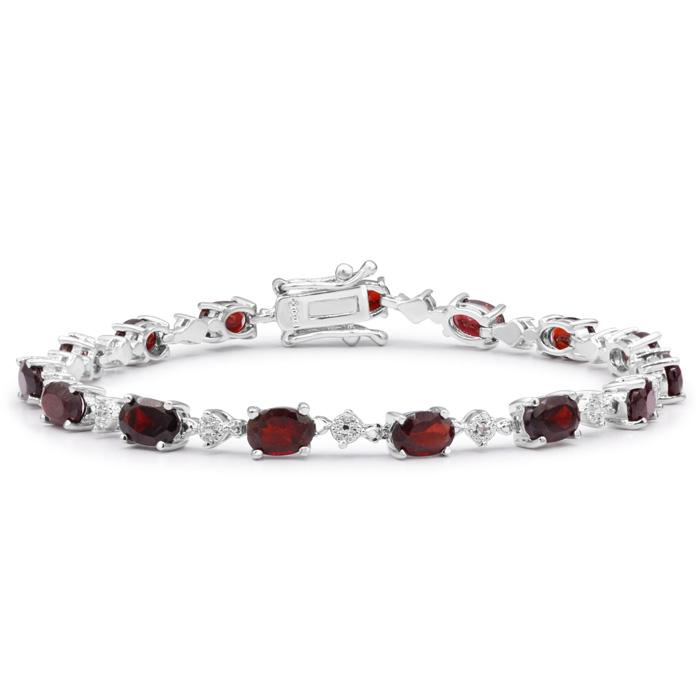 10 1/2 Carat Garnet and Diamond Bracelet,