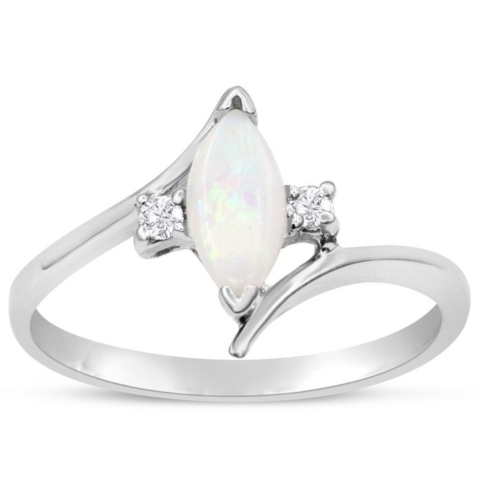 1/2 Carat Marquise Shape Opal and Two